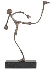 Making the Break by Ed Rust - Bronze Sculpture sized 10x18 inches. Available from Whitewall Galleries